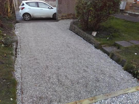 driveway installation project